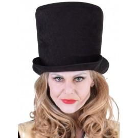 Chapeau haut de forme noir femme luxe