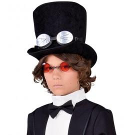 Chapeau haut de forme noir enfant luxe