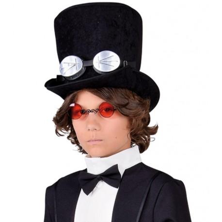321e4f0e0ae21 Chapeau haut de forme noir enfant : Chapeaux enfant carnaval Halloween