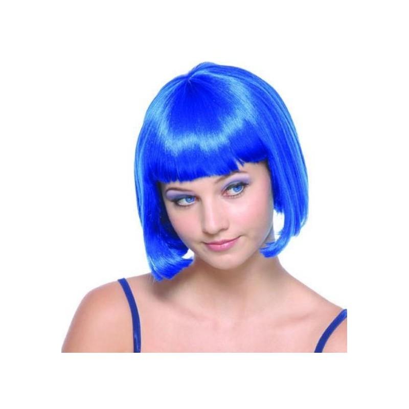 Perruque bleue courte femme : achat perruque