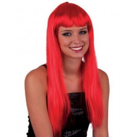 Perruque longue rouge femme
