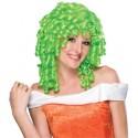 Perruque boucles anglaises verte femme