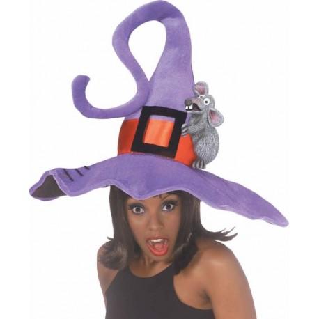 Chapeau sorcière violet femme Halloween