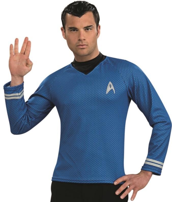 d guisement spock star trek bleu homme. Black Bedroom Furniture Sets. Home Design Ideas