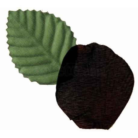 Pétale noire en tissu avec feuilles les 100