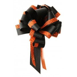 Noeud Halloween orange noir 30 mm les 5