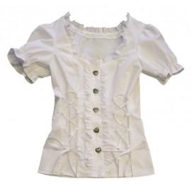 Déguisement blouse tyrolienne blanche femme