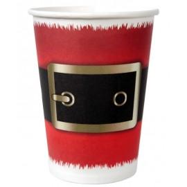 Gobelet carton ceinture père Noël les 10