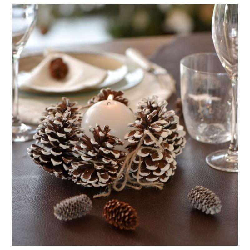 grande pomme de pin d co effet neige les 4 pomme de pin d co neige. Black Bedroom Furniture Sets. Home Design Ideas