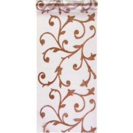 Chemin de table Baroque chocolat Polypro 10 M