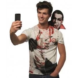 Déguisement T-Shirt Selfie Vampire adulte
