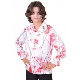 Déguisement chemise ensanglantée enfant luxe
