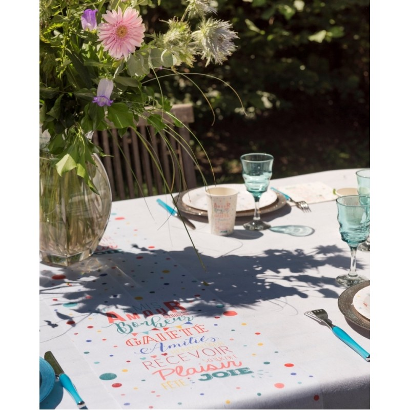 Chemin de table entre amis intiss 5 m chemins de table - Set de table intisse ...