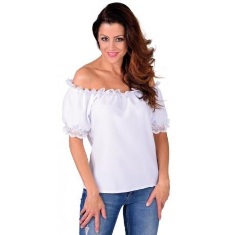 Blouse blanche épaules dénudées femme luxe
