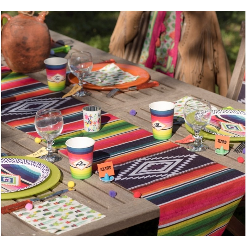 Chemin de table mexicain intiss 5 m chemin de table - Set de table intisse ...