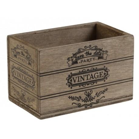 Cagette vintage en bois à déco et dragées les 2