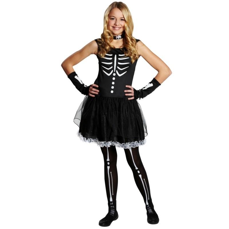 d guisement squelette ado fille gothique halloween d guisements. Black Bedroom Furniture Sets. Home Design Ideas