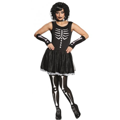 Déguisement squelette femme gothique