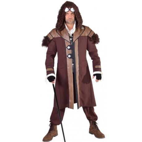 Déguisement manteau steampunk homme luxe