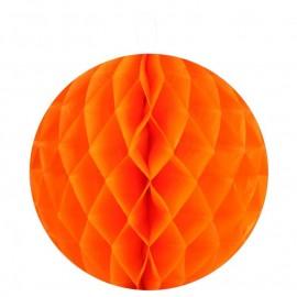 Boule papier alvéolé orange 20 cm les 2