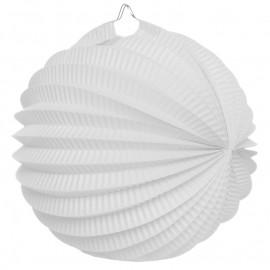 Boule accordéon papier blanc 20 cm