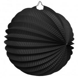 Boule accordéon papier noir 20 cm
