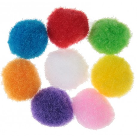 Boule de pompon multicolore les 50
