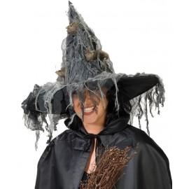 Chapeau de sorcière femme avec souris Halloween