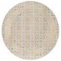 Assiettes carton carreaux de ciment or 22.5 cm les 10