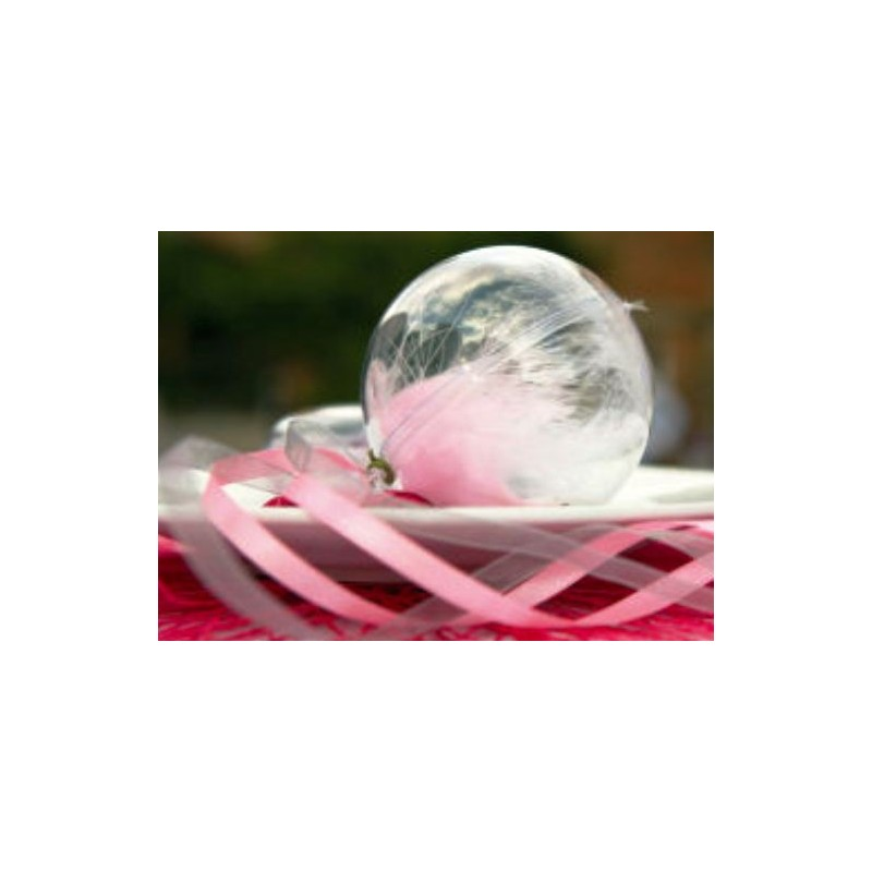 Boule transparente 5 cm boule plexi boule plastique - Boule plastique transparente ...