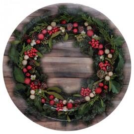 Assiette carton houx de Noël 22.5 cm les 10