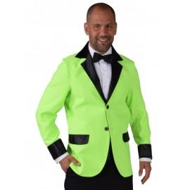 Déguisement veste fluo vert homme luxe