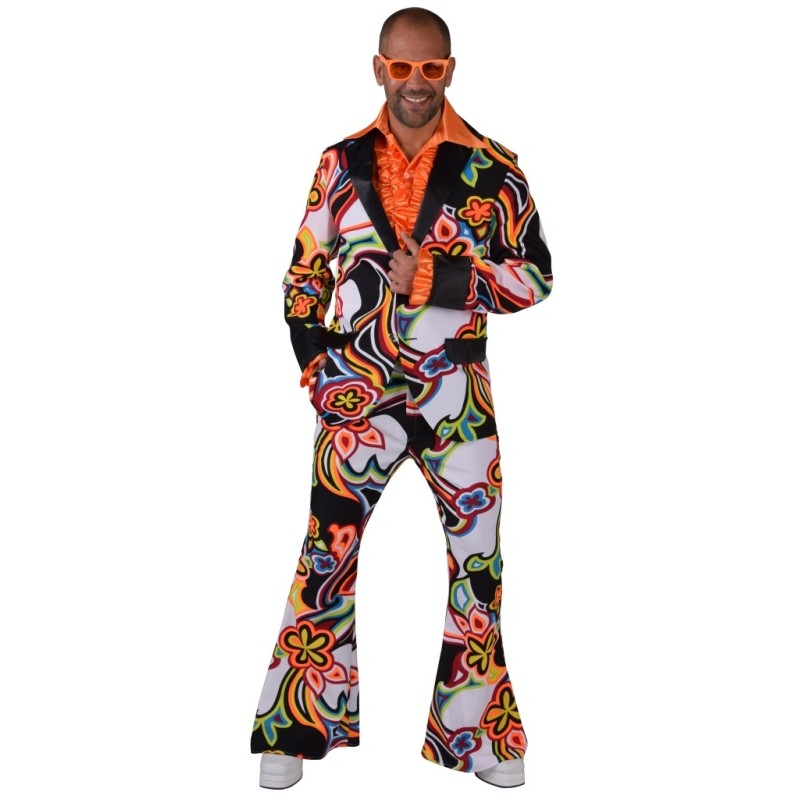 Deguisement disco femme chemise costume paillettes années 70 metalique fantasie