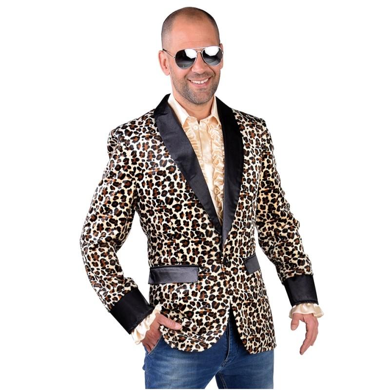 Veste blazer leopard homme