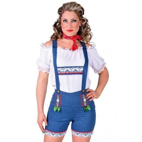 vente la plus chaude magasiner pour véritable qualité authentique Déguisement pantalon tyrolien Jean femme Déguisement tyrolien bavarois