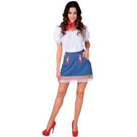 Déguisement jupe tyrolienne jean femme luxe