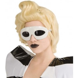 Lunettes Lady Gaga blanches femme