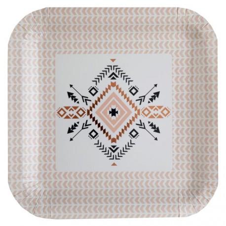 Assiette carton Ethnique 23 cm les 10