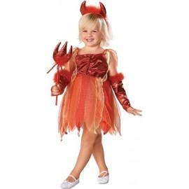 Déguisement diablesse fille Diablotine Lil Devil