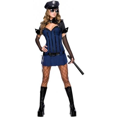 Déguisement policière de nuit femme sexy
