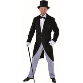 Déguisement queue de pie noire homme chic luxe