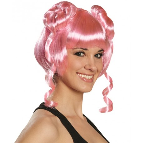 Perruque courte rose femme : achat Perruques