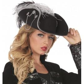 Chapeau pirate noir femme luxe