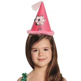 Mini chapeau princesse rose fille