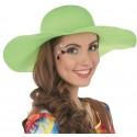 Chapeau hippie fluo vert femme