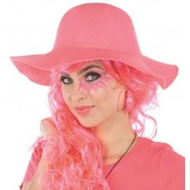 Chapeau hippie fluo rose femme