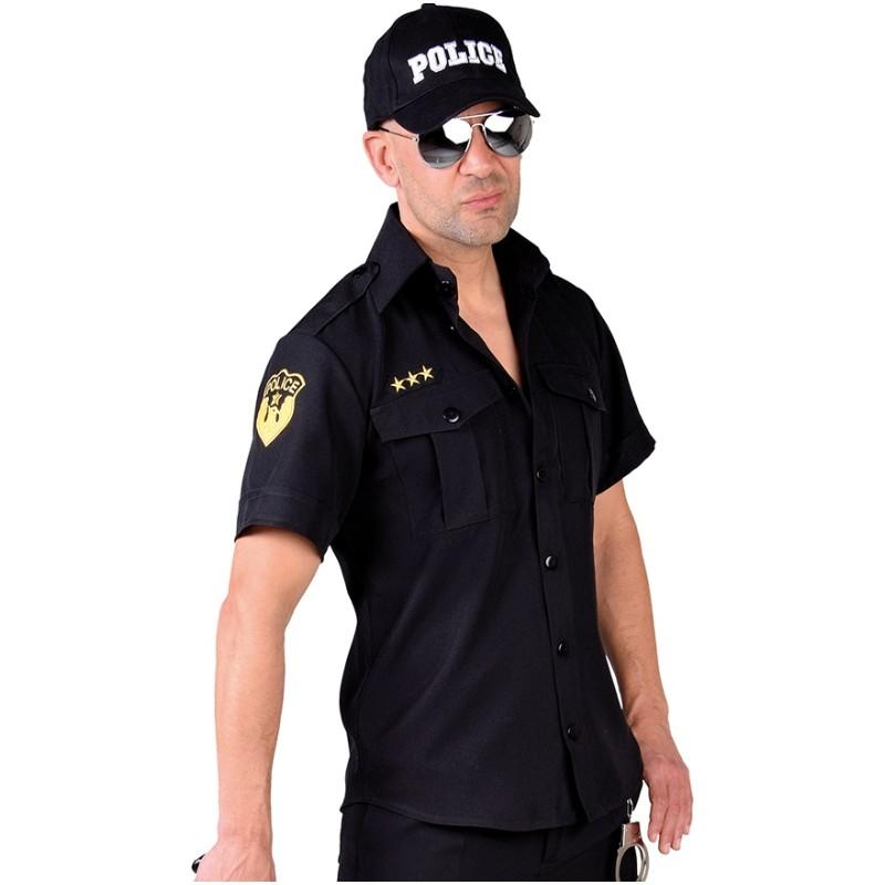 Homme Sexy Poolicier Déguisements Achat Déguisement Policier Chemise qTExw4BO