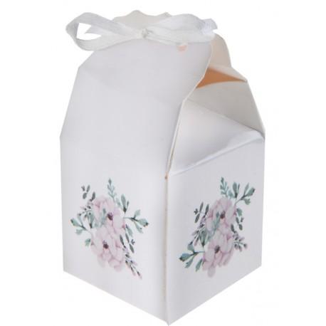 Boîte à dragées bucolique à fleurs les 4