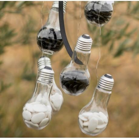 Boîte à dragées Ampoule plexi transparent les 4