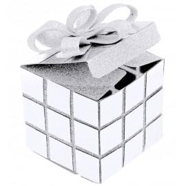 Boîte cube de Noël blanc